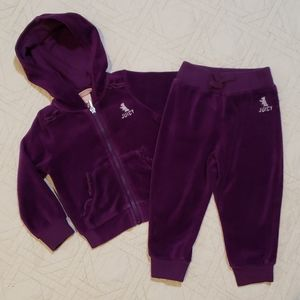 JUICY Couture Purple Velour Hooded Track Suit